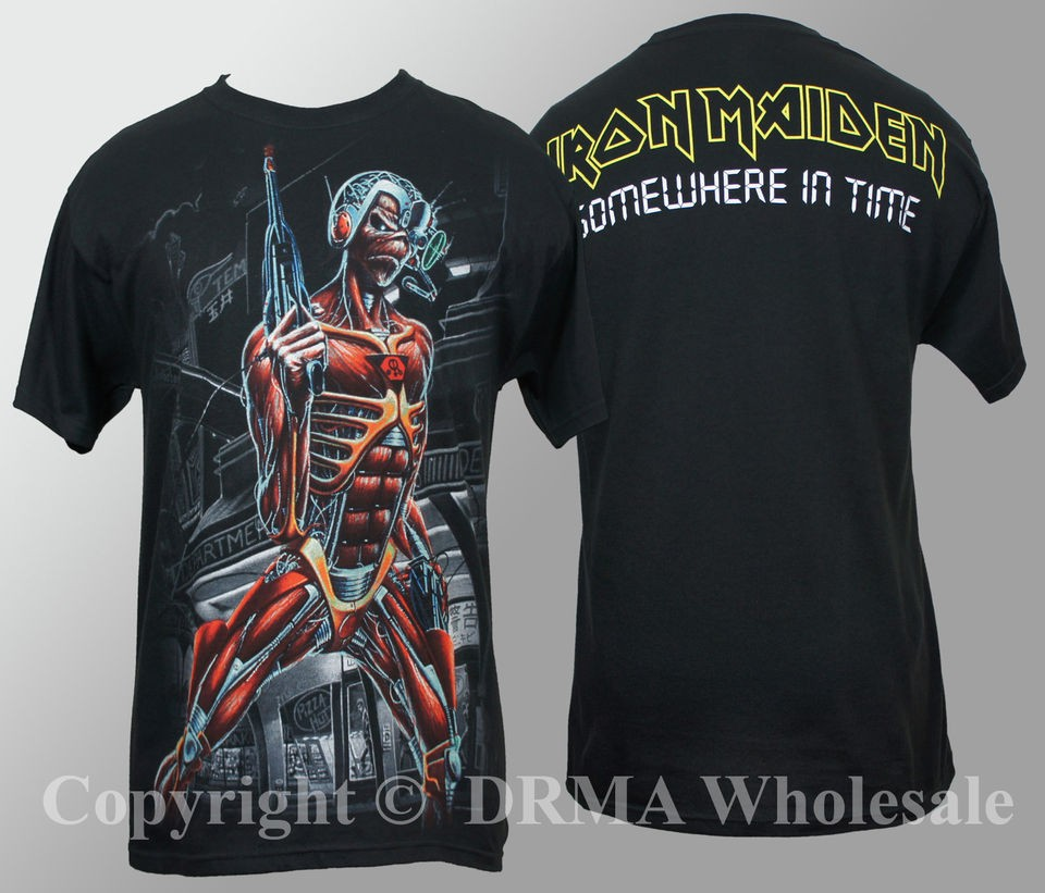 Authentic IRON MAIDEN Jumbo Somewhere In Time Eddie T Shirt S M L XL