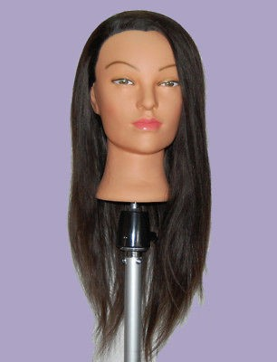 24 Cosmetology Mannequin Head HUMAN Hair @ WITH FREE CLAMP **
