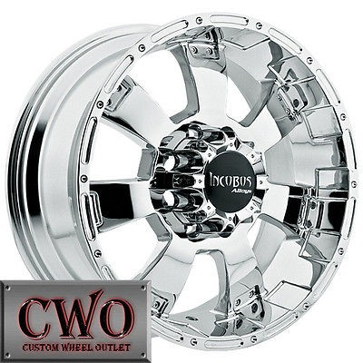 20 Chrome Incubus Krawler Wheels Rims 8x165.1 8 Lug Chevy GMC Dodge