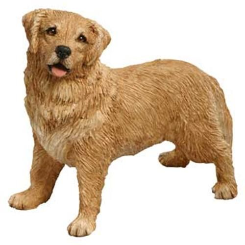 Golden Retriever Dog Statue Mid Size Figurine Sculpture