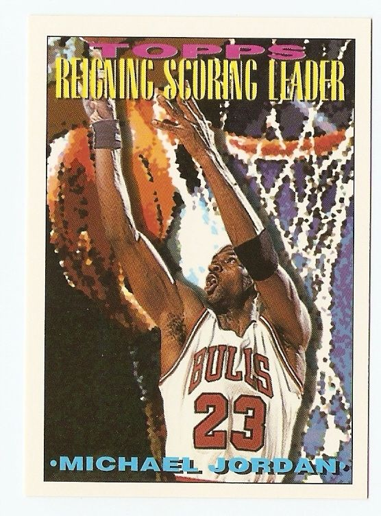 1993 94 Michael Jordan Topps Basketball Trading Card 384