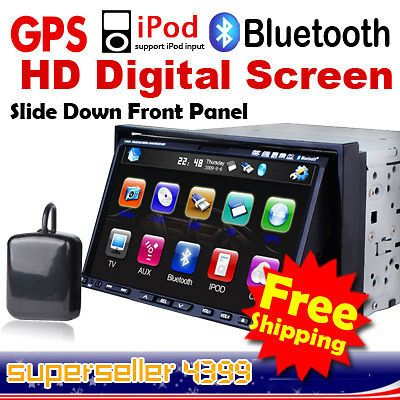 pip double din car dvd player gps navigation usa stock