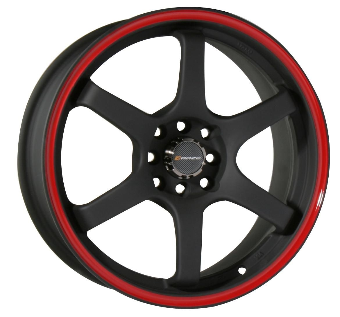 17 Black Wheels Rims Honda Accord Civic Fit Integra Yaris Sentra