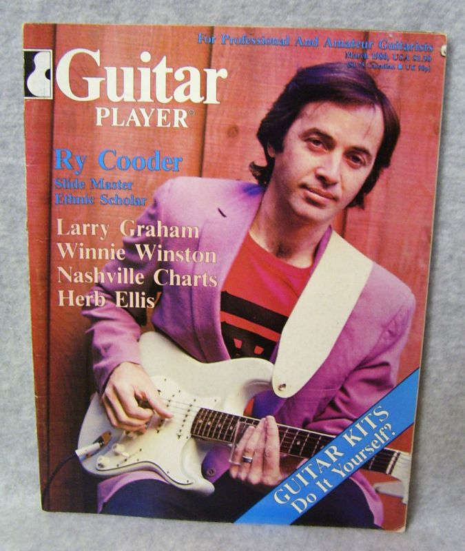 GUITAR PLAYER MAGAZINE MARCH 1980 RY COODER