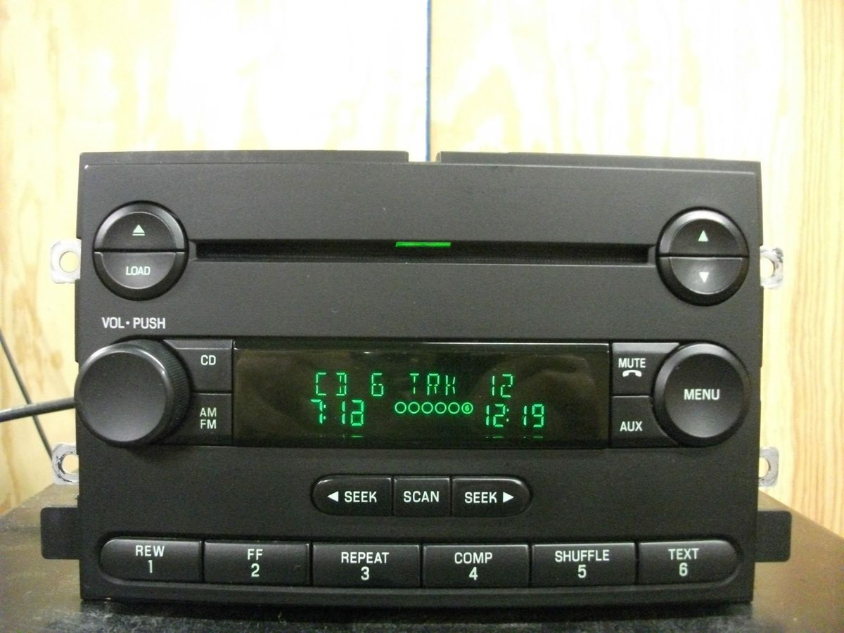 Ford Freestyle F150 Mustang factory 6 disc CD player radio 4L3T 18C815