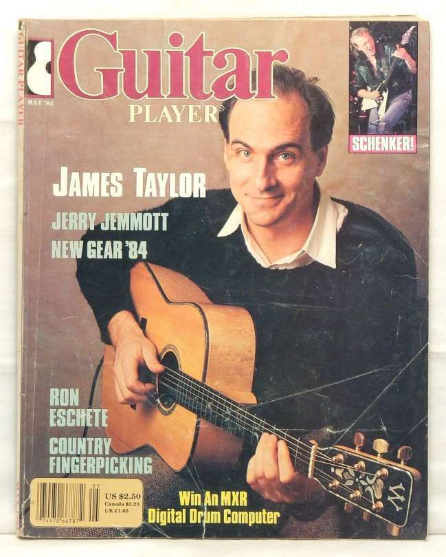 Guitar Player Magazine James Taylor Jerry Jemmott Michael Schenker