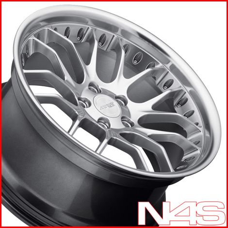 19 BMW E92 E93 M3 MRR GT 7 Silver Staggered Rims Wheels