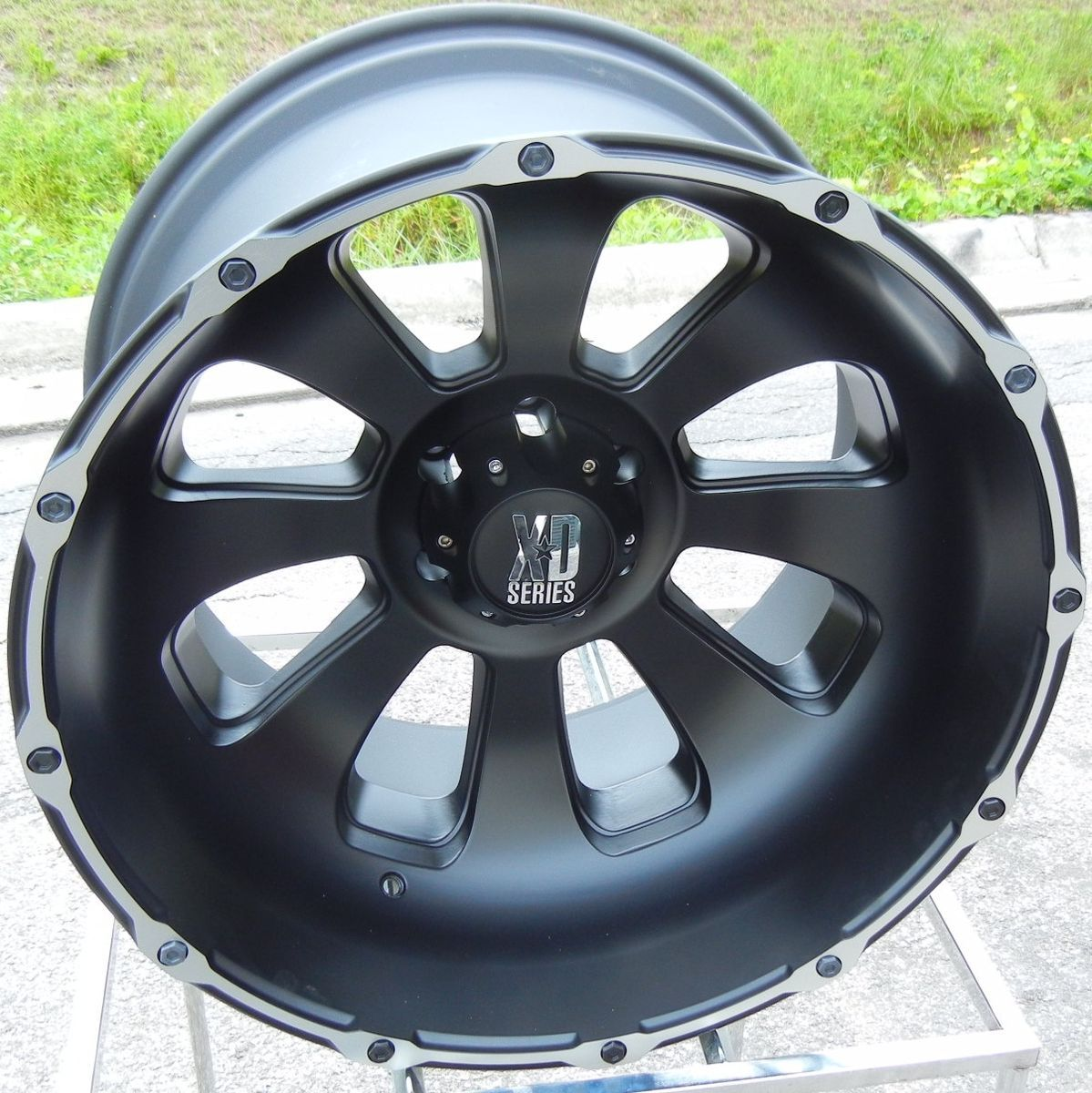 22x14 Black KMC XD Armour Wheels Rim Chevy GMC Sierra Dodge RAM 2500