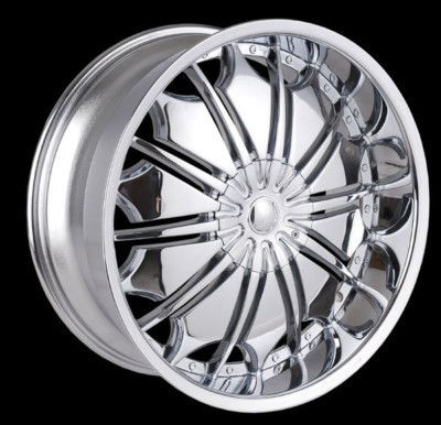 28 Tyfun 706 Chrome Wheels Rim Tires Yukon Escalade Tahoe Avalanche